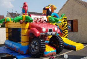 Safari animaux - Structure gonflable enfants dans l'Oise